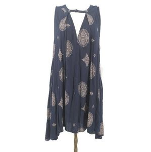 Free people tunic shift dress with key hole front